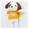 Hand Knitted Christmas dog