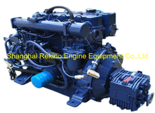Siyang 4L68CB 68HP 3200RPM marine diesel boat engine set for enclosed Yacht lifeboat