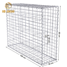 50x100mm 4mm Galvanized Welded Gabion Basket / Welded Gabion Box