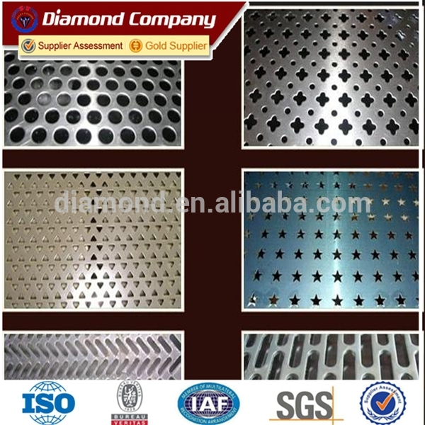 Perforated metal sheet open pattern