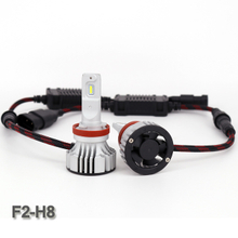 New arrival 9-32V F2 H8 6000lm 6000K slim car led headlight