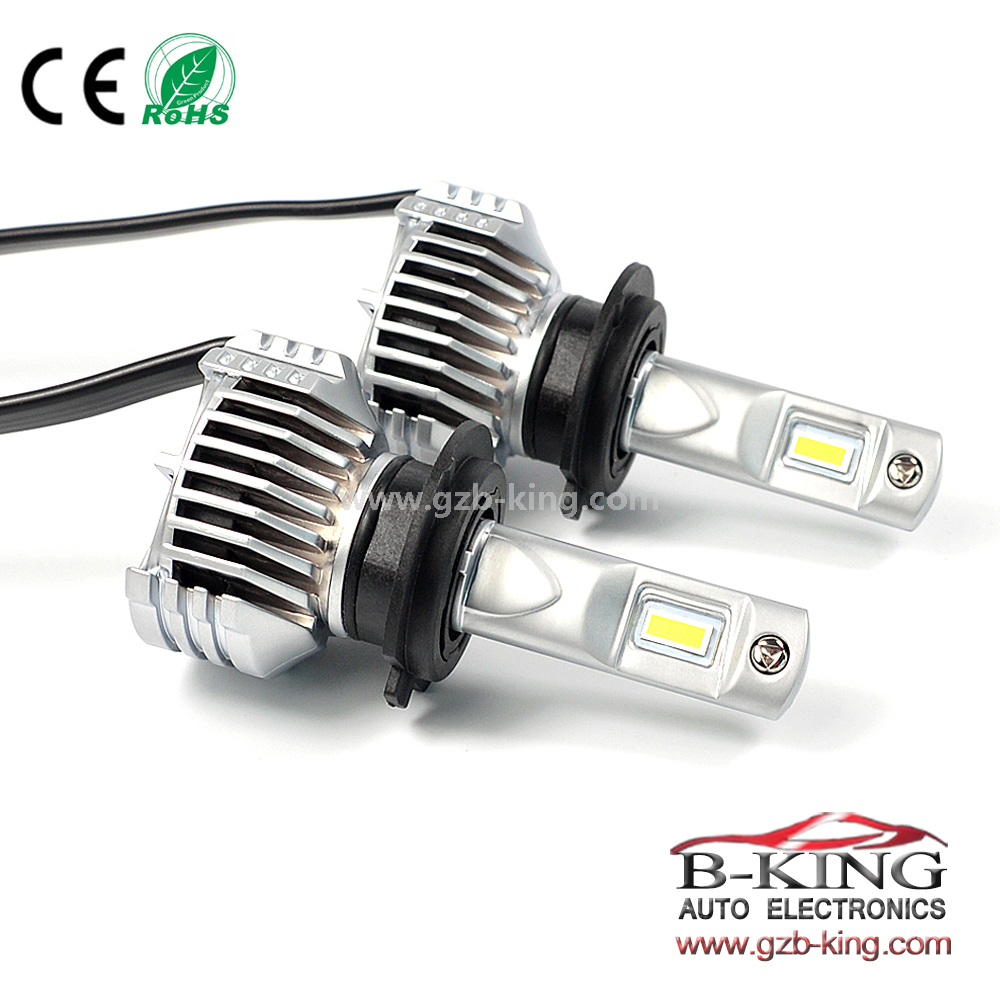Smallest P12 45W 6500lm universal 5202 H16 car led headlight with built-in fan( 100% suitable for all cars)