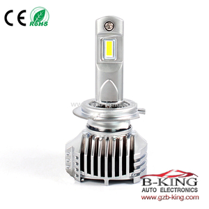 Smallest P12 45W 6500lm universal H7 car led headlight with built-in fan( 100% suitable for all cars)