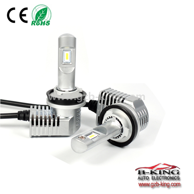 1:1 VS halogen P20 40W 5200lm universal H11 car led headlight with built-in fan( 100% suitable for all cars)