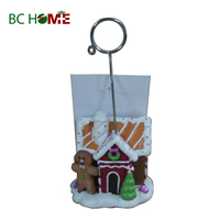 Christmas Santa Claus Polyresin Business Card Holder