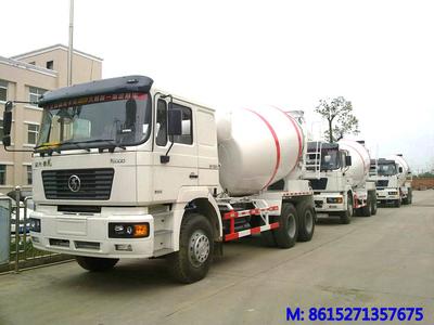 SHACMAN F2000 8~9m3  concrete mixer truck