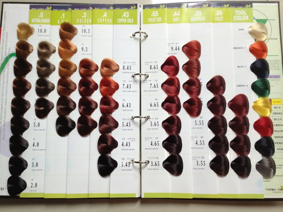 Colors Vb Salon Hair Color Chart