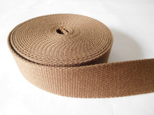 37mm brown Cotton webbing for garment and belt