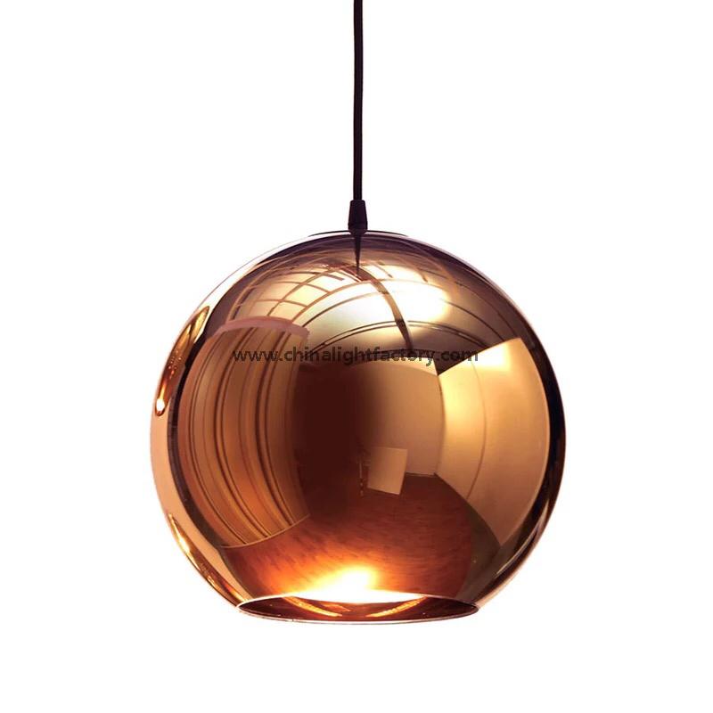 Tom dixon copper shade pendant light mirror ball glass pendant tom dixon copper shade pendant light mirror ball glass pendant lamp 4026101 mozeypictures Choice Image