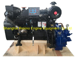 Cummins 6BTA5.9-M150 rebuilt reconstructed marine diesel engine with gearbox (150HP 1800-2200RPM)