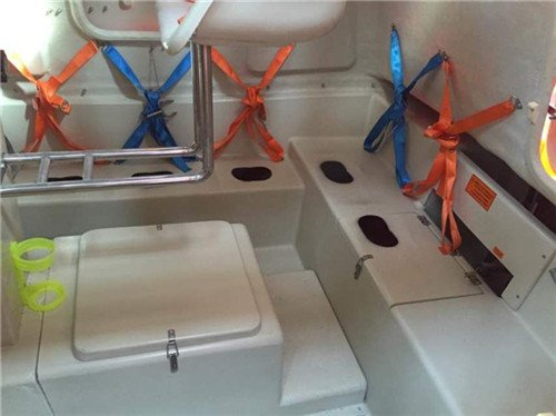 Inside of Enclosed Lifeboat