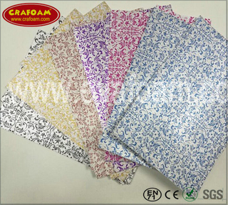 Glitter EVA Foam Sheets with Film