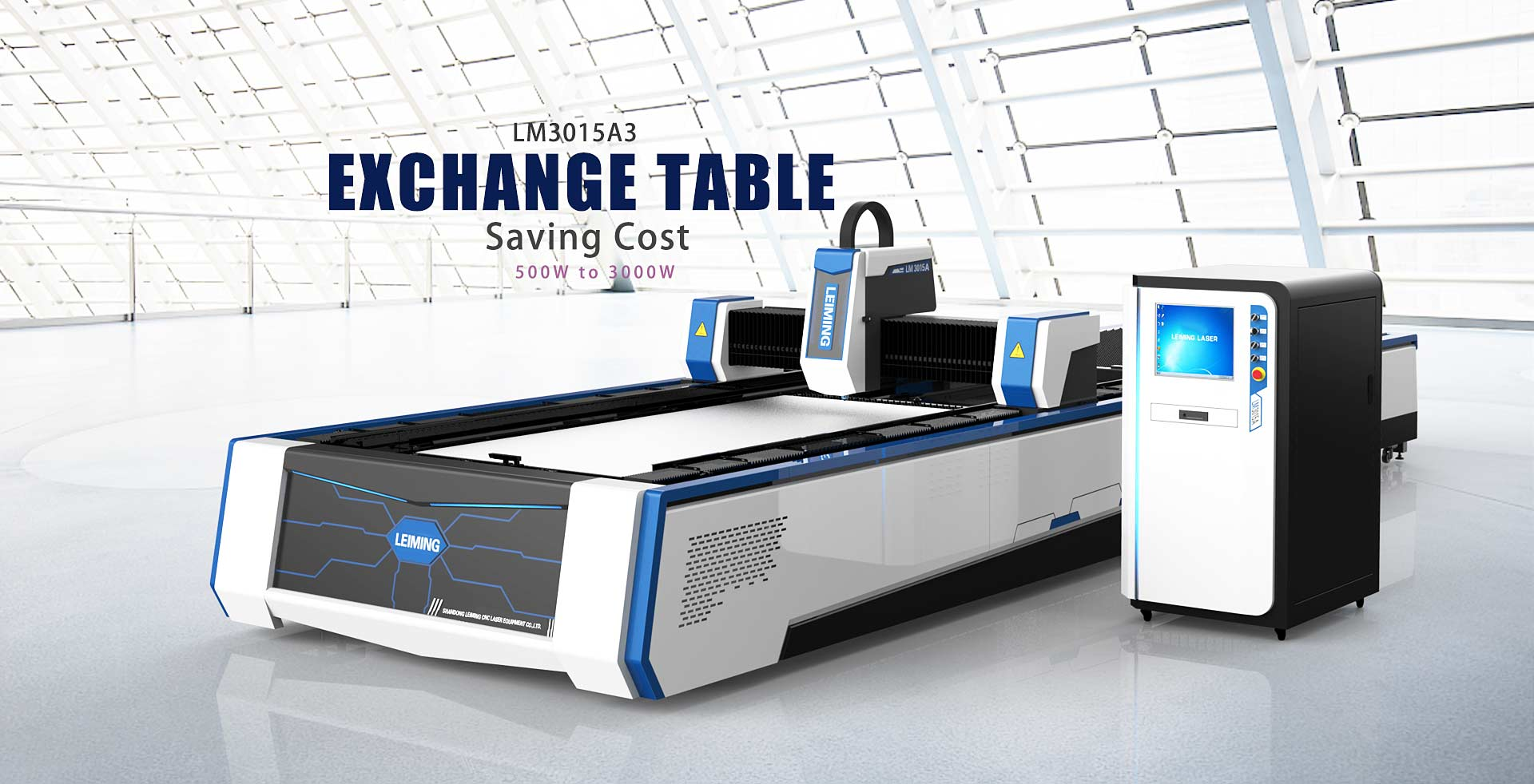 3015A3 exchange table laser cutter