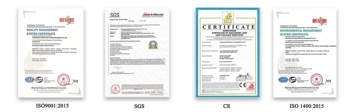 leiming laser certificate