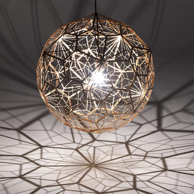 Tom dixon etch light web led stainless steel pendant lamp - Tom dixon etch web pendant ...