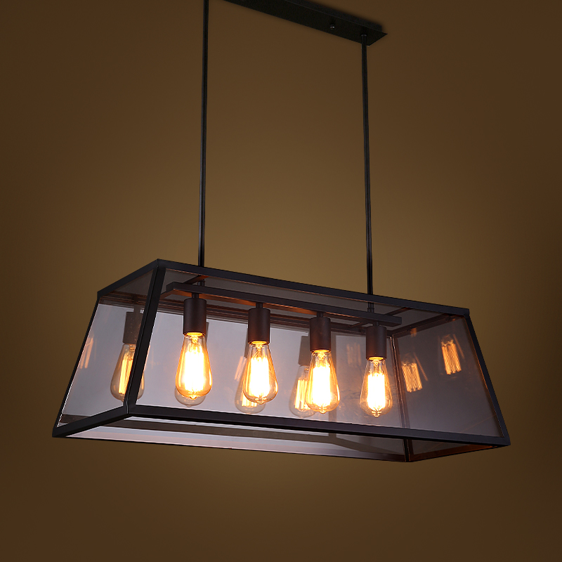 Pendant l& - 8042104 (33) & RH Metal Glass Box Shape Edison Bulbs Pendant Lighting Modern ... azcodes.com