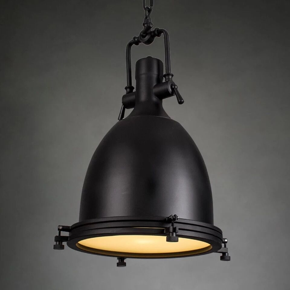 Benson Pendant lamp Loft Industrial Iron Chrome bronze Suspension ...
