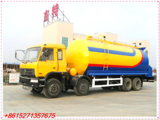 Dongfeng 8x4 Heated Asphalt Tank Truck top discharge with air pump