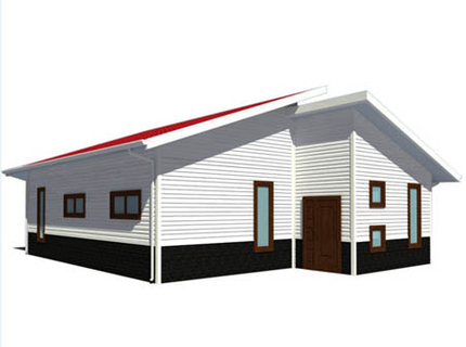 Light Steel Villa 82 square meter (3 bedrooms and 1 washroom)