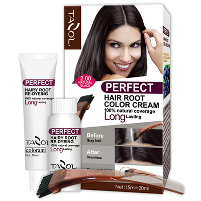 Tazol Perfect Permanent Hair Root Color with Medium Brown