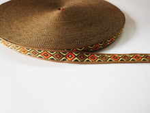 Jacquard polyester webbing for garment accessories