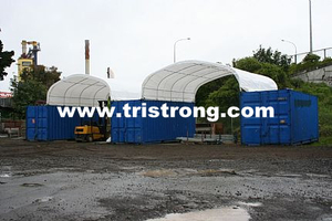 Prefabricated Building, Container Cover, Tent, Container Shelter (TSU-2020C/2040C)