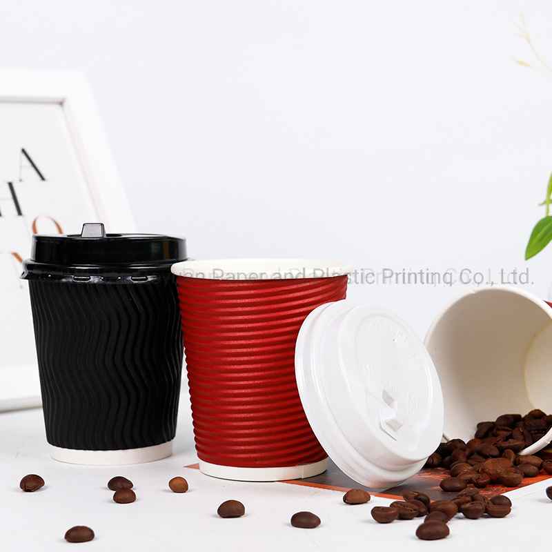 8 Oz Disposable Ripple Wall Coffee Paper Cup