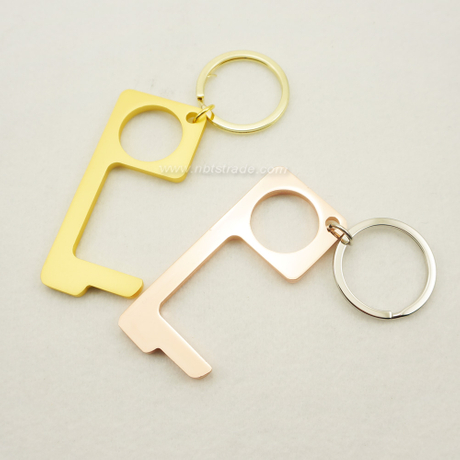 Sterilization Prevention Zinc Alloy No Touch Door Opener Keychain