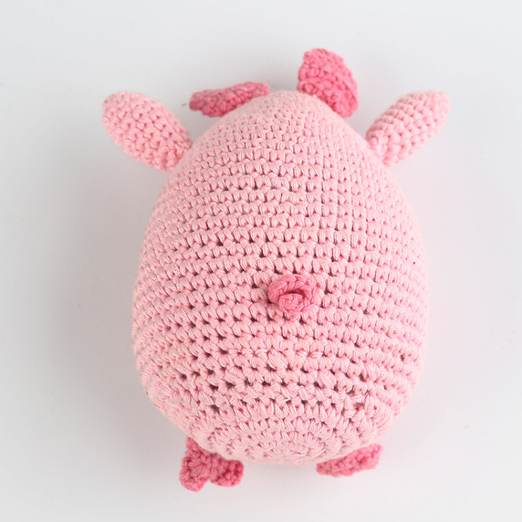 Hand Knitted Pig