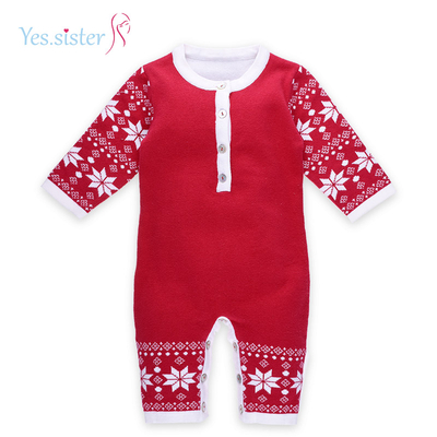 Anti-pilling Breathable Christmas Sweater Outfits Romper For Baby Boy
