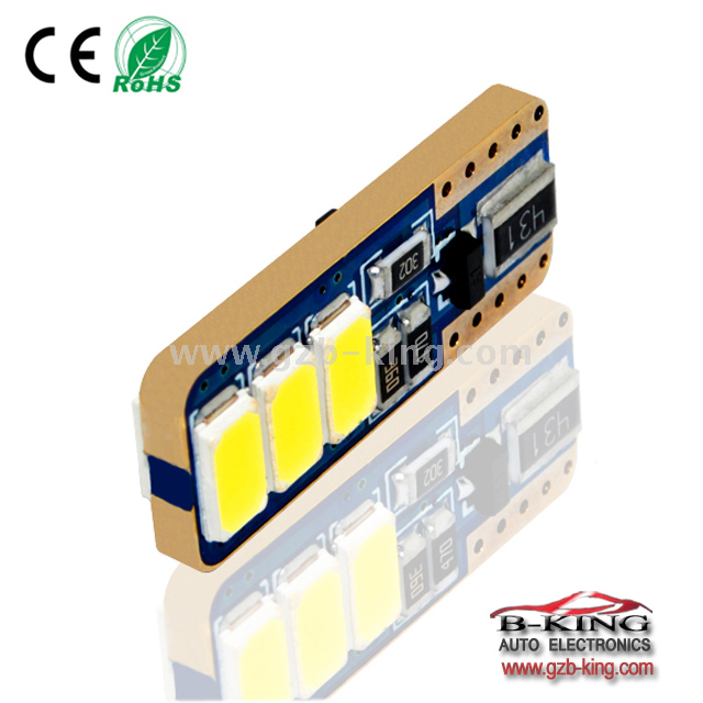 New arrival T10 3x5630SMD canbus led bulb