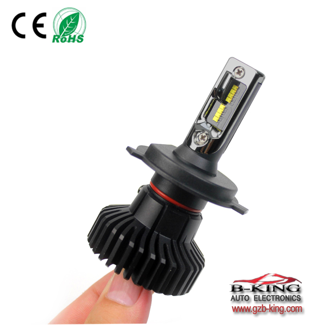 All in one T6 H4 9-32V 6000lm 6500K mini car led headlight