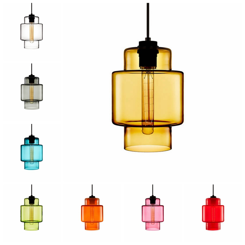 Modern Hand Blown Glass Pendant Light Restaurant Pendant