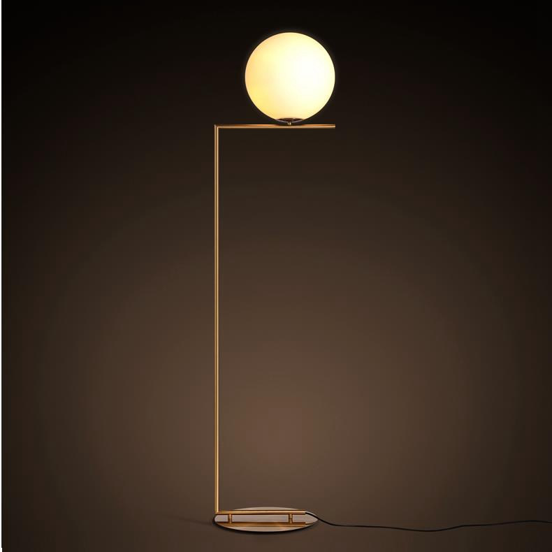 Fancy High Quality Glass ball Modern Floor Lamp, hotel Floor ...