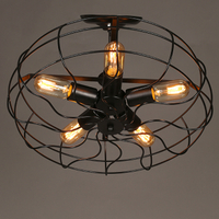 Industrial vintage rustic loft style fan shape ceiling chandelier lighting