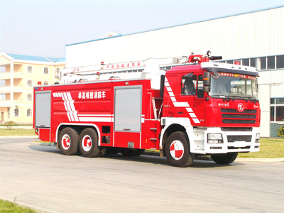 SHACMAN 18 meter High spray fire truck  water tower Fire Truck