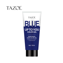 Tazol temporary hair color gel blue