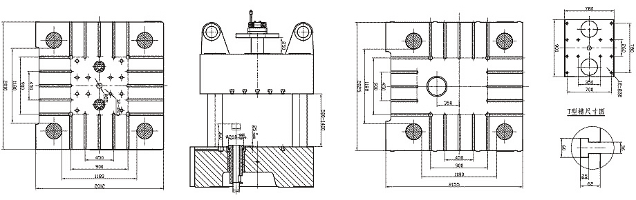 mold plate size of 1600tons/16000kN Cold Chamber Die Casting Machine