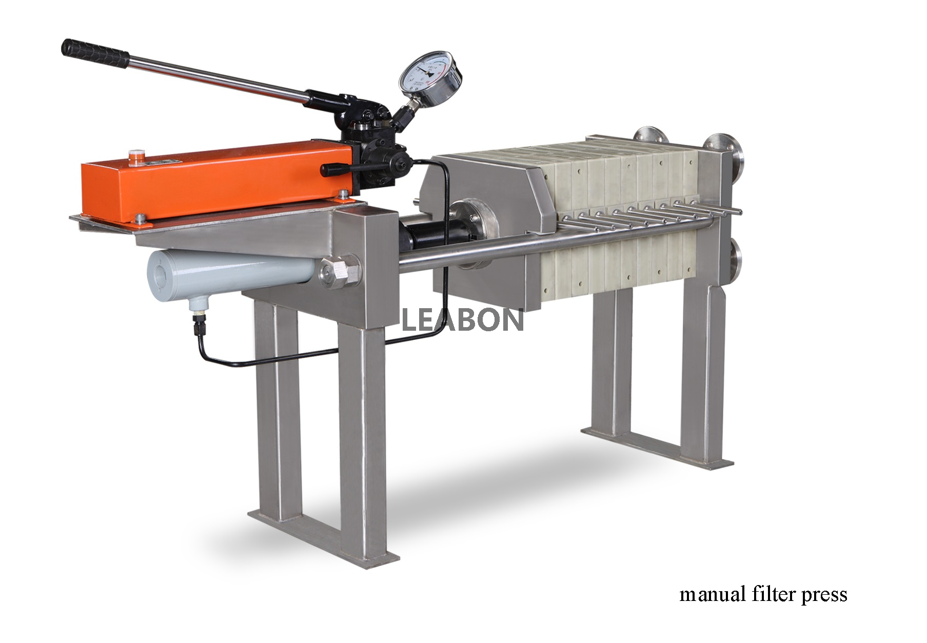 Stainless Steel Manual Hydrulic Pump Membrane Filter Press