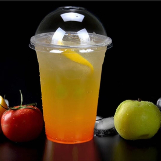 Customized Printed Disposable Plastic Cups for Cold Beverage Coffee Juices