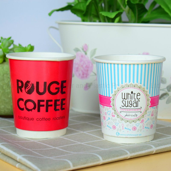 Disposable Double Wall Paper Cup for Coffee Tea Hot Beverage