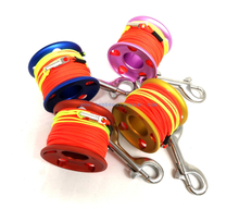30M Aluminum Mini Scuba Diving Reel Spool with 90MM SS double end clip