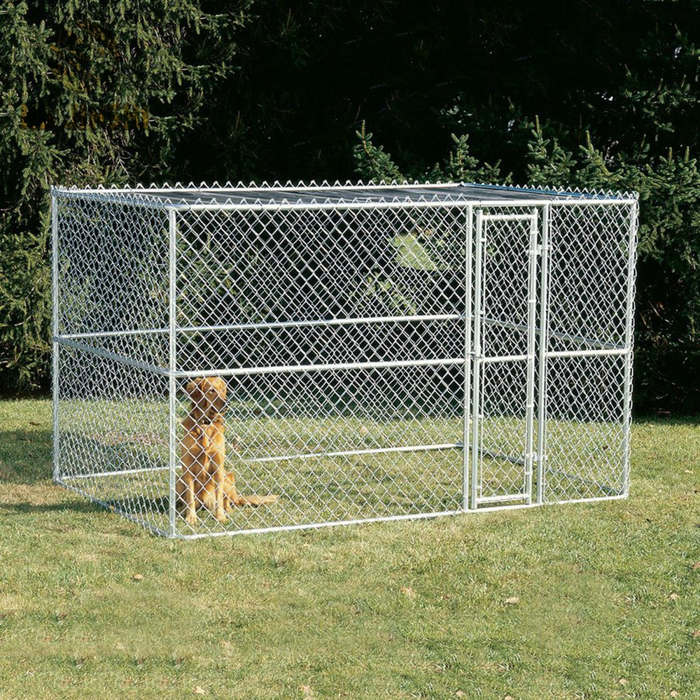 Large Outdoor Metal Dog Kennel Chain Link Mesh Dog Playpen - Buy ...