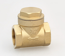 Check valve swing type brass