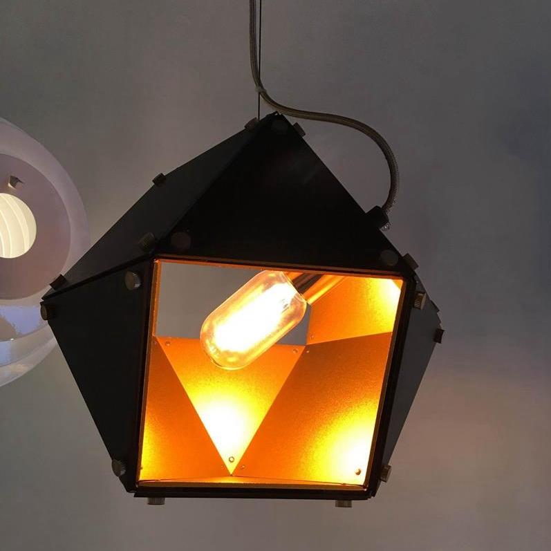 modern decorative polygon alumnium single pendant lighting from