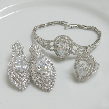 Clear CZ Wedding Jewellery Set