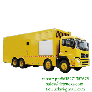100kw-1000kw Dongfeng 8x4 mobile power generator truck Euro 4 ,5 CUMMINS Engine