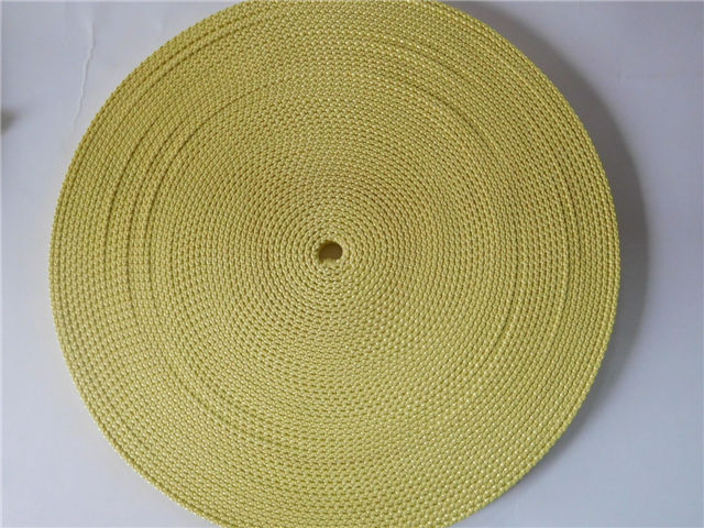 High temperature resistance aramid fiber webbing for Glass Tempering Furnace Roller