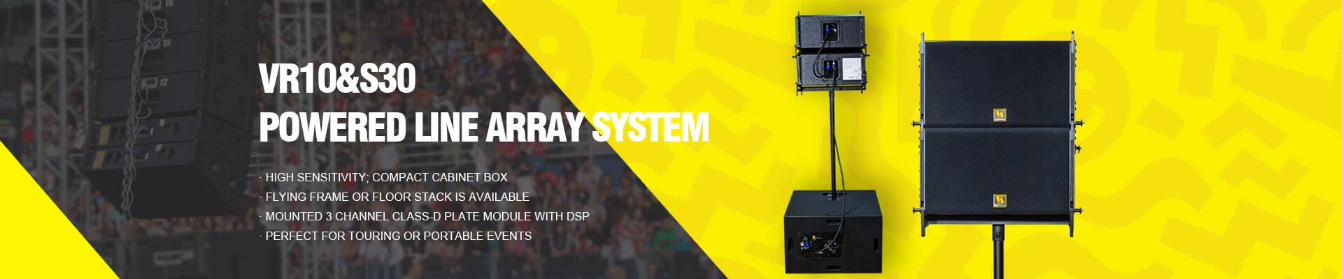 powered line array speaker