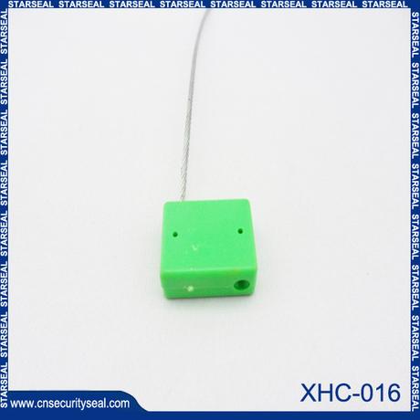 Plastic cable lock seal